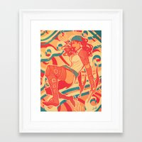 dragon age Framed Art Prints featuring Dragon Age: Isabela by Sara Cuervo