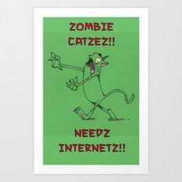 Zombie Catzez Art Print
