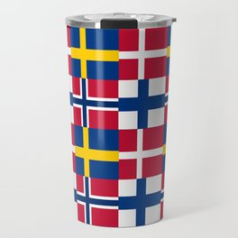 Flags of scandinavia2: finland, denmark,swede,norway Travel Mug
