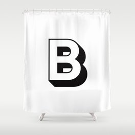 Letter B ... As Easy As ... Shower Curtain