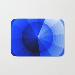 Monochromatic Blue Sphere Bath Mat