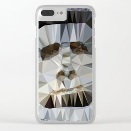Scary Head Clear iPhone Case