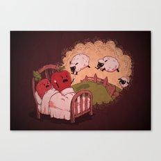 sleepsheep (counting them doesn't always help) Canvas Print