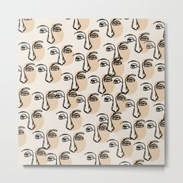 multiply line art Metal Print