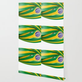 brazil  background with flag Wallpaper