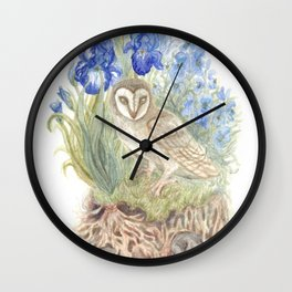 Woodlands and What Lies Beneath Wall Clock