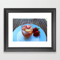 sangria series (#2 - strawberry peach chardonnay) Framed Art Print