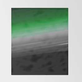 Green Gray Black Ombre Throw Blanket