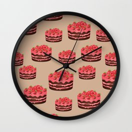 Strawberry Chocolate Cake Wall Clock