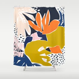 Modern flowers - design for a happy life Shower Curtain