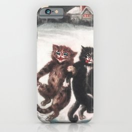 I fear the humans don't understand the severity of leaving us home alone! iPhone Case