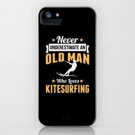 Grandpa Kitesurfing Kitesurfing Sport iPhone Case