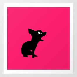 Angry Animals: Chihuahua Art Print