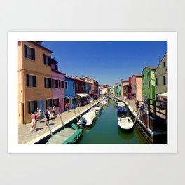 Rainbow Venice Art Print