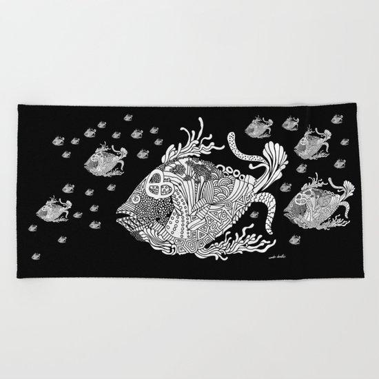 Dragon Fish Beach Towel