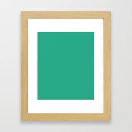 Jungle Green - solid color Framed Art Print