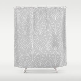 Art Deco on Grey Shower Curtain