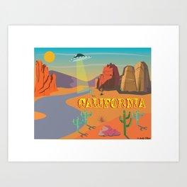 California Spaceship Art Print