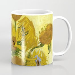 1889-Vincent van Gogh-Sunflowers-73x95 Coffee Mug