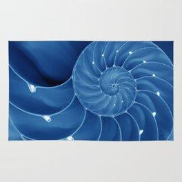 Malibu Blu Mood - Chambered Nautilus  Rug