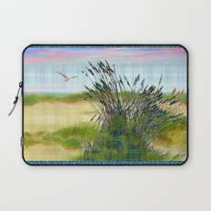 Plaid Beachscape with Seagrass Laptop Sleeve