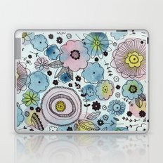 Blue and purple flowers Laptop & iPad Skin