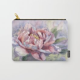 Pink Peonies Watercolor Flowers Peony Painting Floral art print Carry-All Pouch