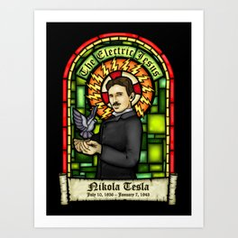 Tesla: The Electric Jesus Art Print