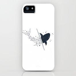 Shark. Geometric style iPhone Case