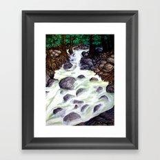 River along the Forest Framed Art Print
