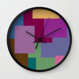 Squares, so many squares Wall Clock