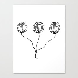 Whimsical Balloon Drawing by Emma Freeman Designs Canvas Print