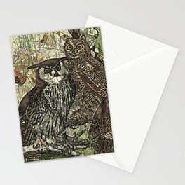 My owls in batik style Stationery Cards