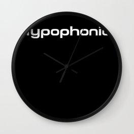 Typophonic logo 2 Wall Clock