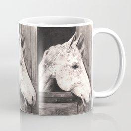 white horse. Coffee Mug