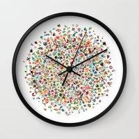 pi Wall Clocks featuring pi by koicoyfish