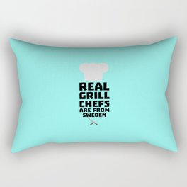 Real Grill Chefs are from Sweden T-Shirt D54jd Rectangular Pillow