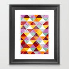 Triagles warm Framed Art Print