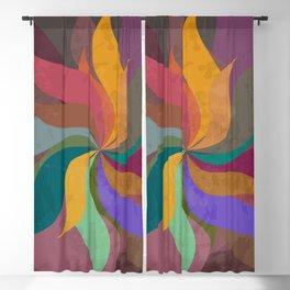 Pinwheel Grungy Abstract Design Blackout Curtain