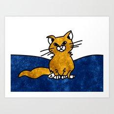 Grumpy Cat - Sketch to Digital Art Print