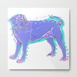 The happy LABRADOR RETRIEVER Love of My Life - your Lab dog keeps you smiling! Metal Print