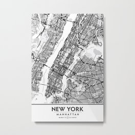 New York City Showing Manhattan, Brooklyn and New Jersey Metal Print