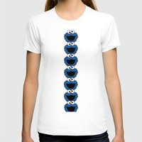 cookie monster T-shirts featuring Cookie Monster  by aldarwish