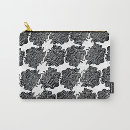 black & pattern. Carry-All Pouch