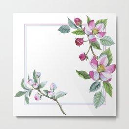 Apple Blossom Frame 01 Metal Print
