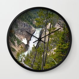 Falls in the Grand Canyon of Yellowstone Wall Clock