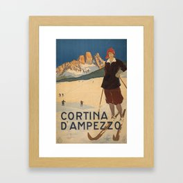Cortena D'Ampezzo Framed Art Print