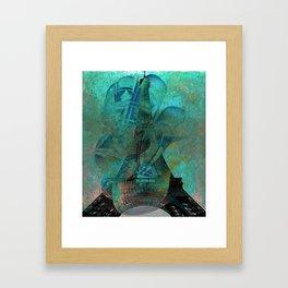 Paris Eiffel Tower Copper Patina Framed Art Print