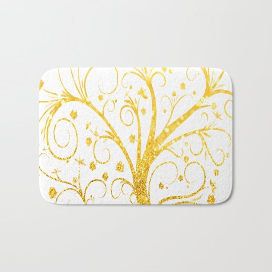 Gold Tree Bath Mat