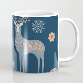 Nordic Winter Blue Coffee Mug